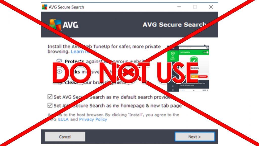 Do not use AVG