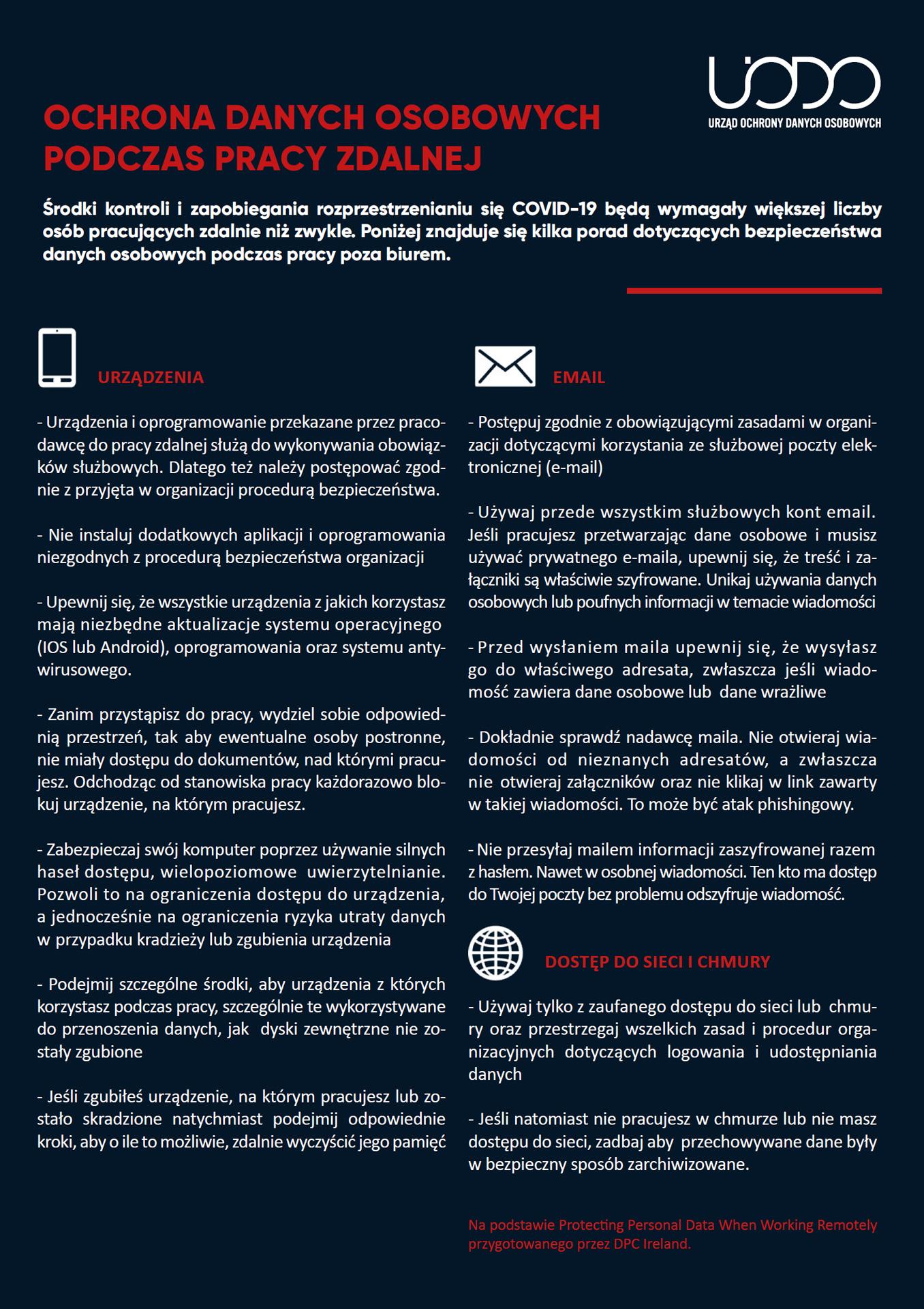 Infografika - Praca zdalna - UODO