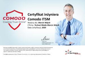 Certyfikat Comodo_Marcin Wójcik