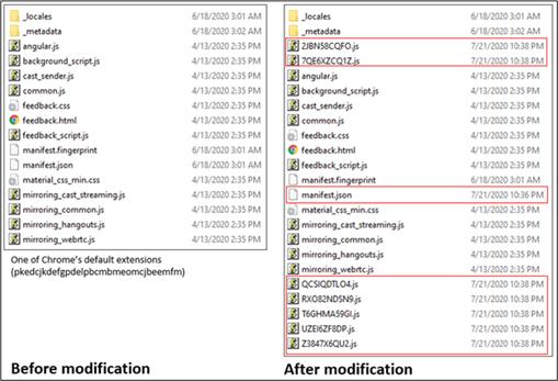 Pliki JavaScript i JSON dodane do ścieżki pliku rozszerzenia docelowego