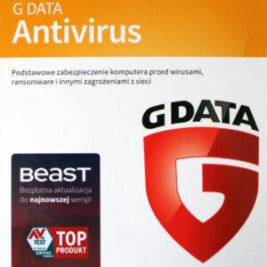 G DATA Antivirus 1 PC 1 ROK - Karta klucz
