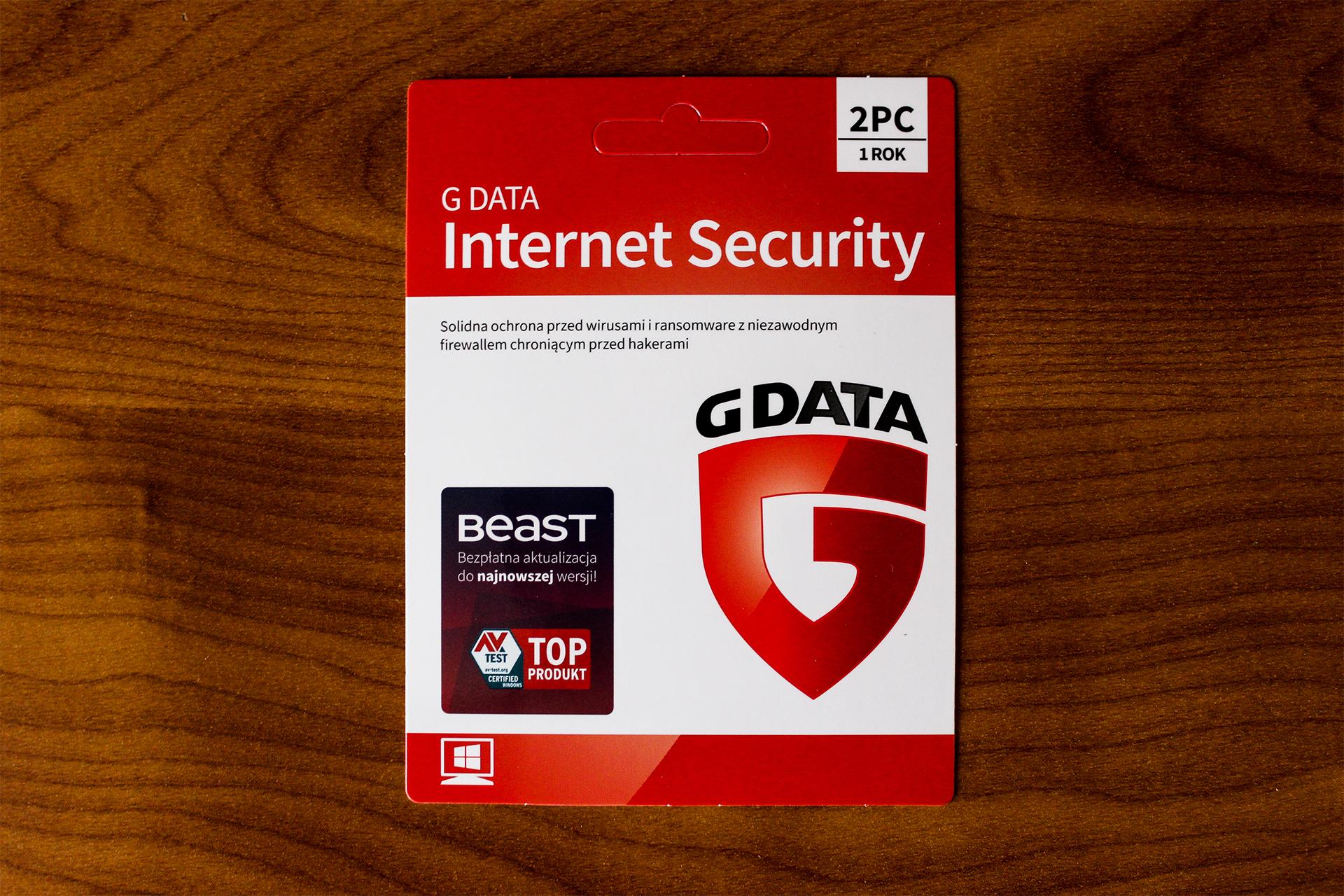 G DATA INTERNET SECURITY 2PC 1 ROK