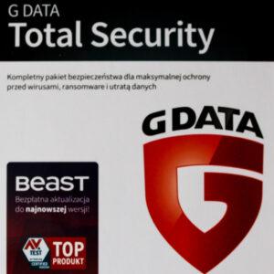 G DATA TOTAL SECURITY 1PC 1 ROK KARTA-KLUCZ