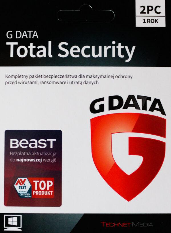 G DATA TOTAL SECURITY 2PC 1 ROK KARTA KLUCZ