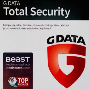 G DATA TOTAL SECURITY 3PC 1 ROK KARTA KLUCZ